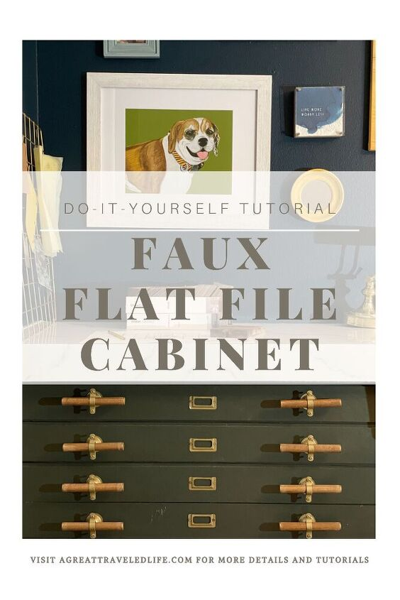 diy faux flat file cabinet