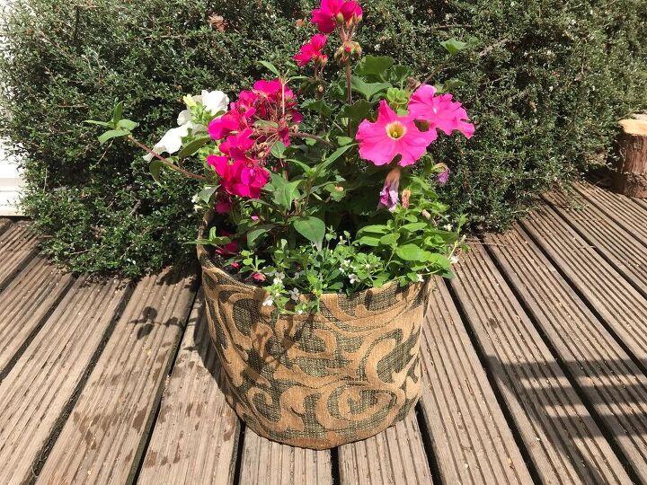 super simple plant pot cover transform an old pot