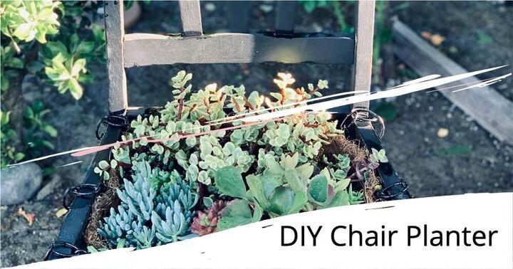 how to make a delightful chair planter garden easy diy