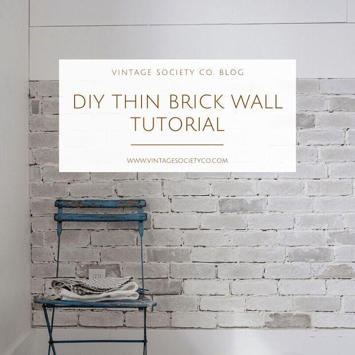 diy thin brick wall vintage society co