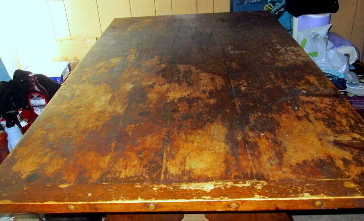 q where do i start restoring an old farm table