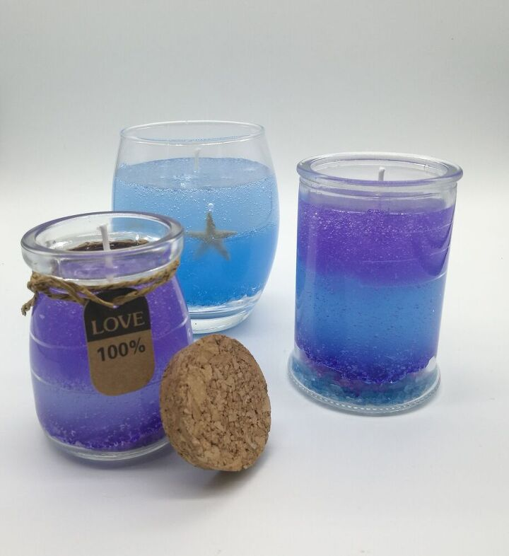 simple home made gel candles