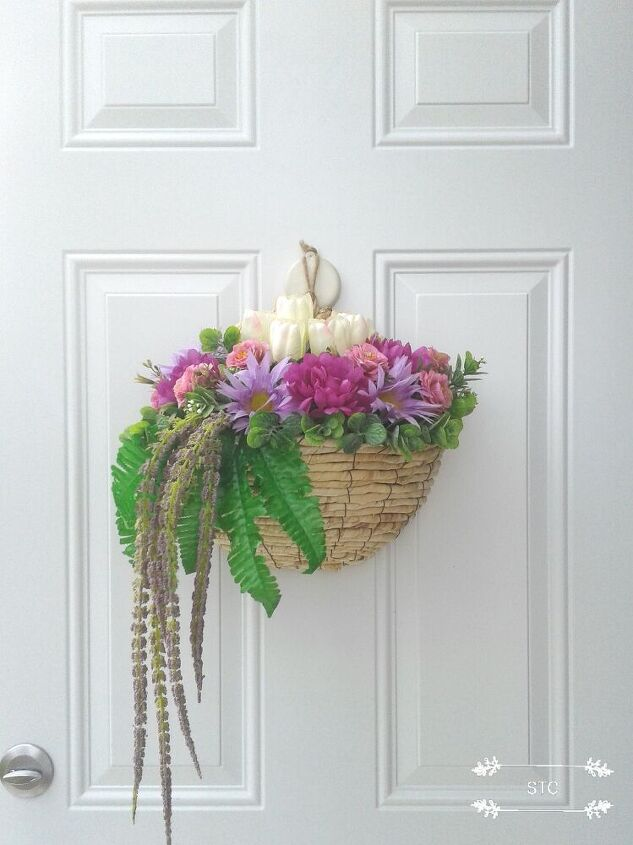 making a decorative basket as a wreath alternative, Basket Option 1