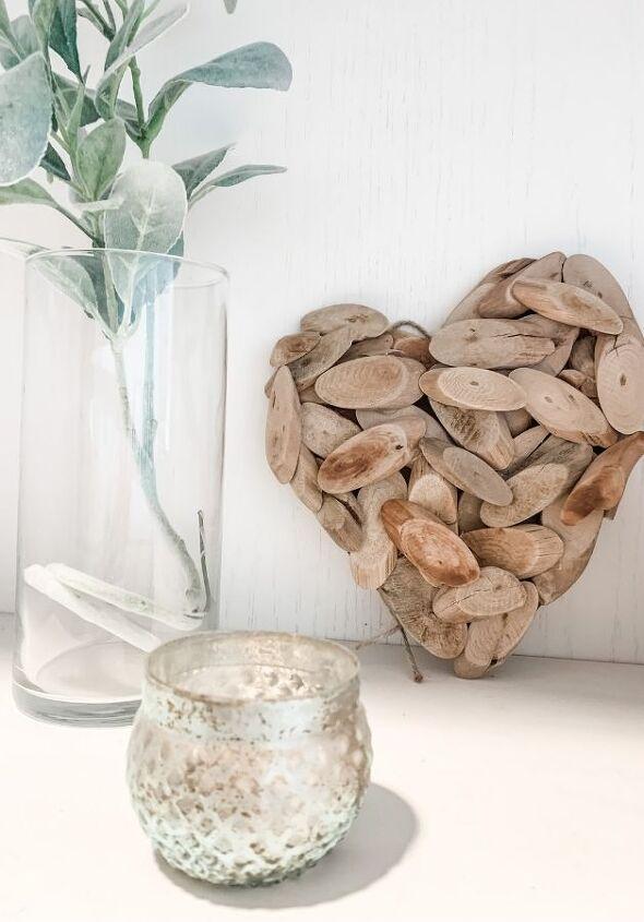 diy driftwood wall art heart video included