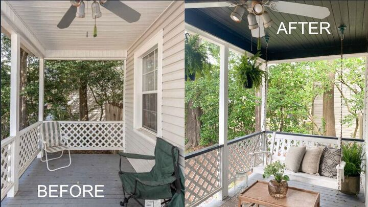 before and after porch makeover