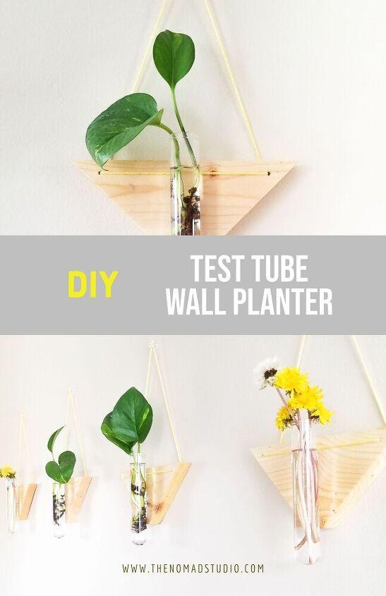 test tube wall planter