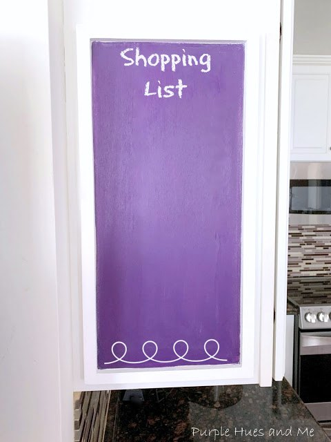 diy a purple chalkboard