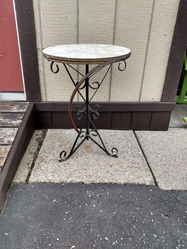 revamping a small outdoor table