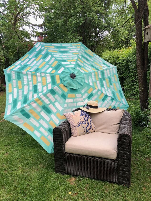 s 14 gorgeous outdoor decorating ideas to try this summer, Patio Umbrella Upgrade