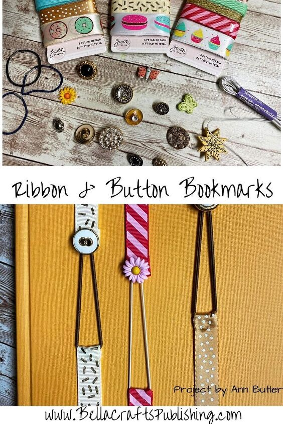 quick easy ribbon bookmarks