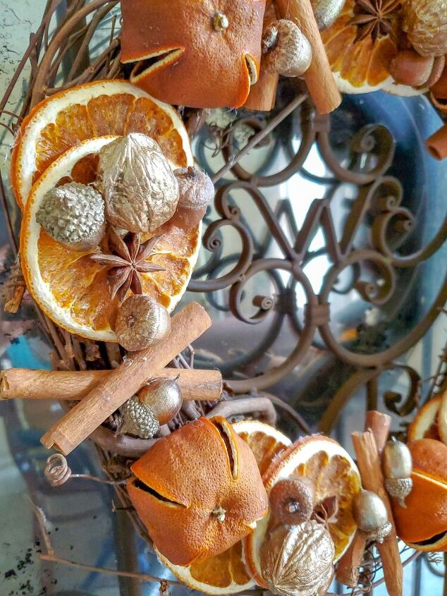 how to make a dried orange wreath giveaway