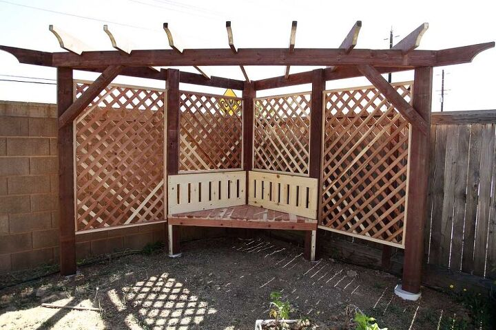 s 17 outdoor weekend updates that are worth your time, Build a garden arbor with a bench