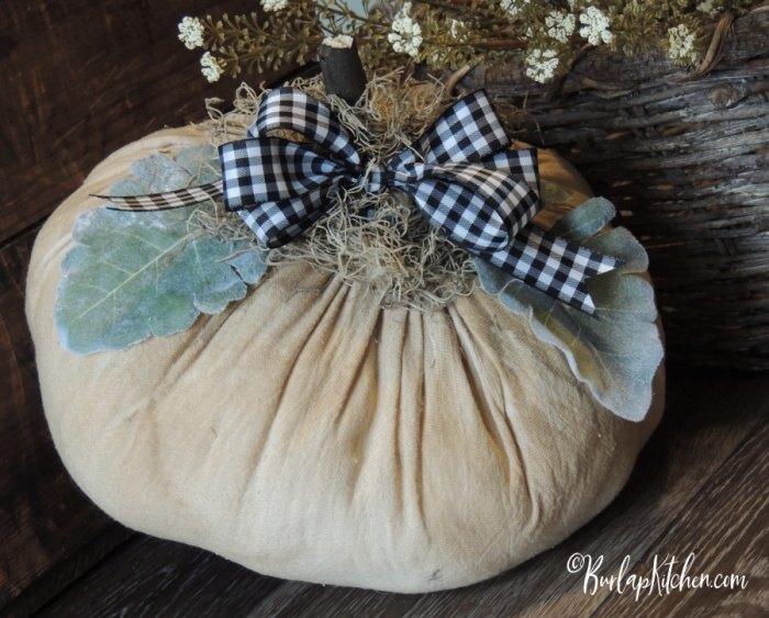 flour sack pumpkin