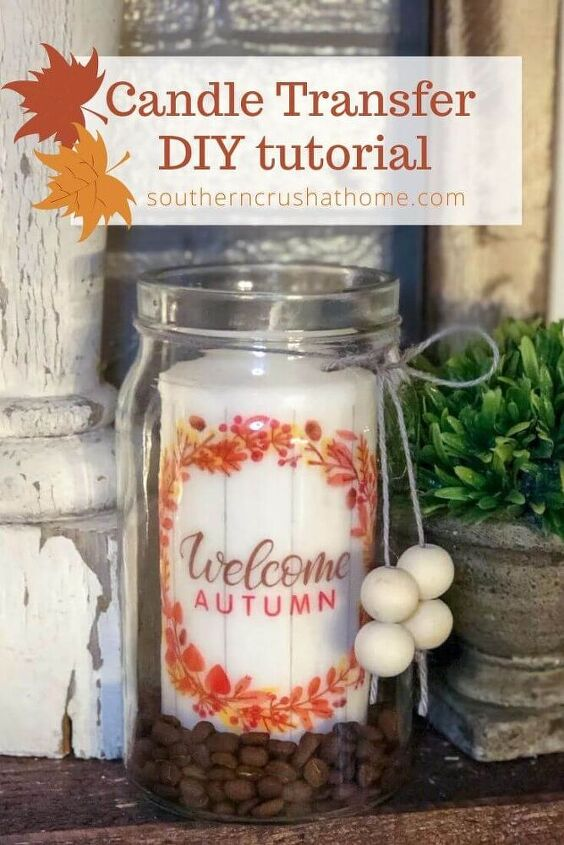 diy candles how to transfer photos to candles