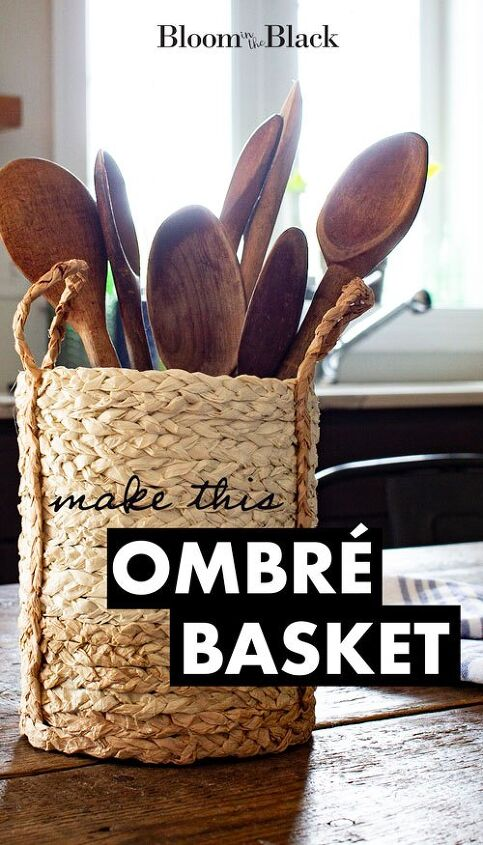 how to make an ombre basket