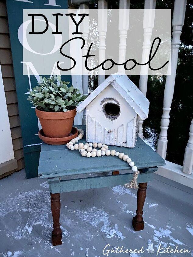 diy porch stool