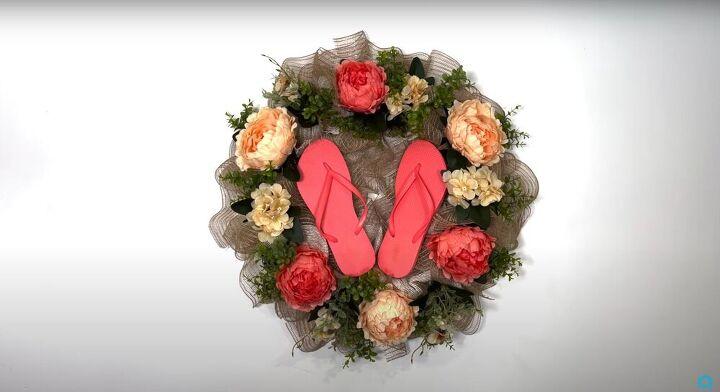 flip flop wreath, Basic flip flop wreath