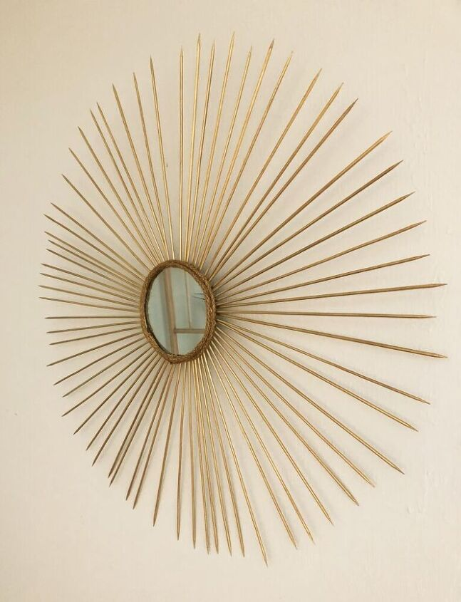s 13 crazy cool ways people are upgrading their boring mirrors, Make a bold sunburst mirror