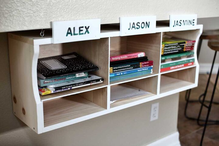 s 15 organizing ideas parents are already saving for the new school year, This personalized shelving unit