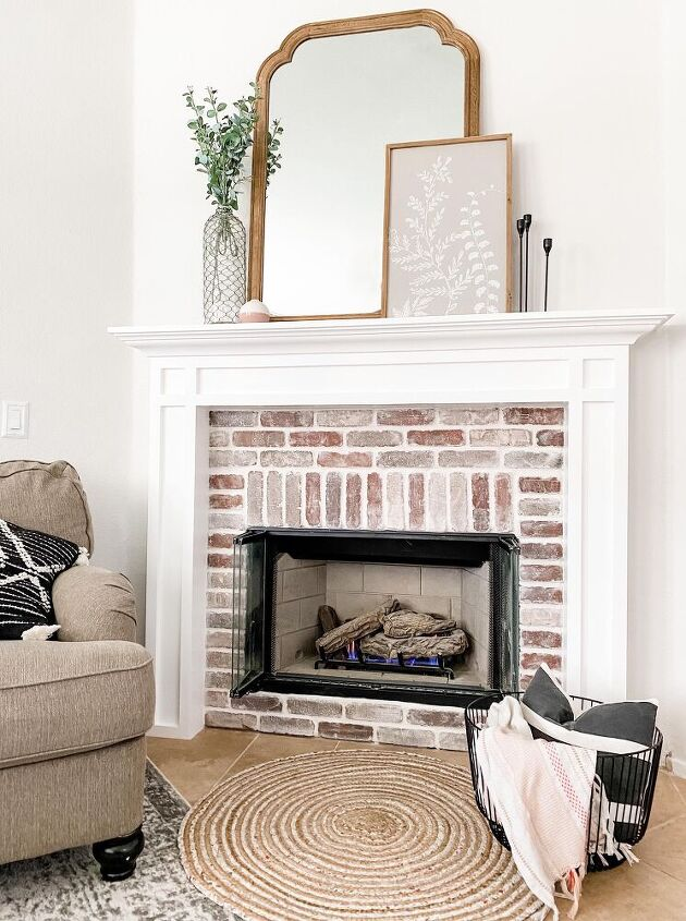 fireplace makeover pt 2 baby got brick