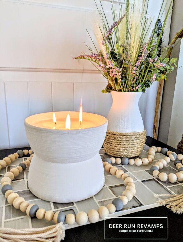 s 17 beautiful things you can make using dollar store items, A modern three wick candle