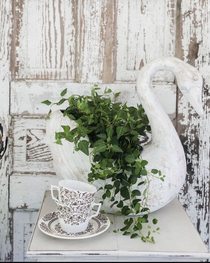 how i turned an ugly duckling into a beautiful swan planter