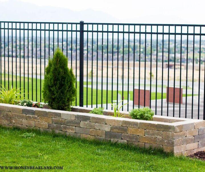 diy stone planter boxes