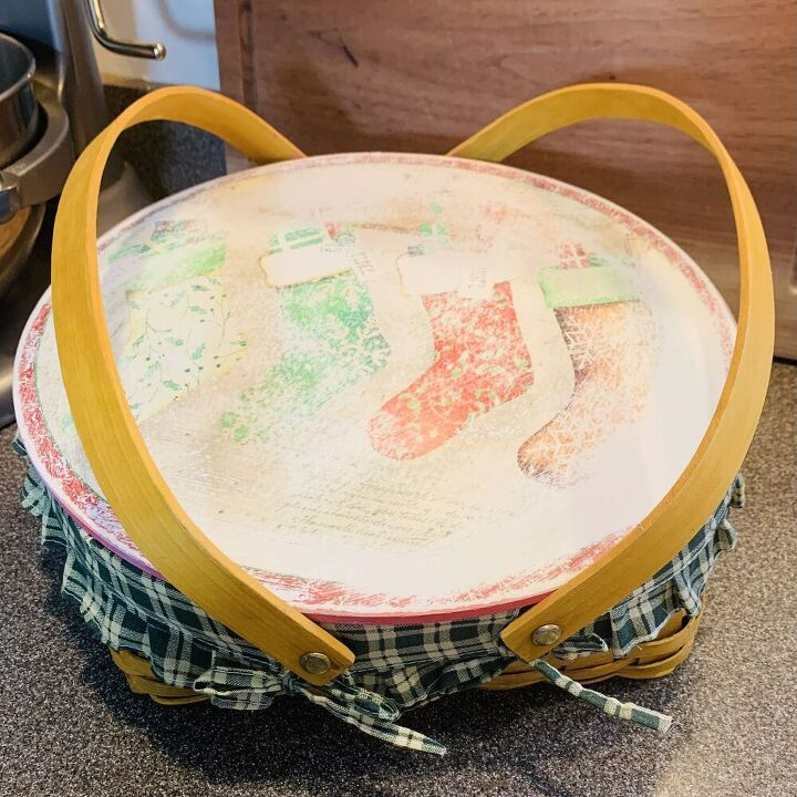farmhouse bread basket from a thrift store find