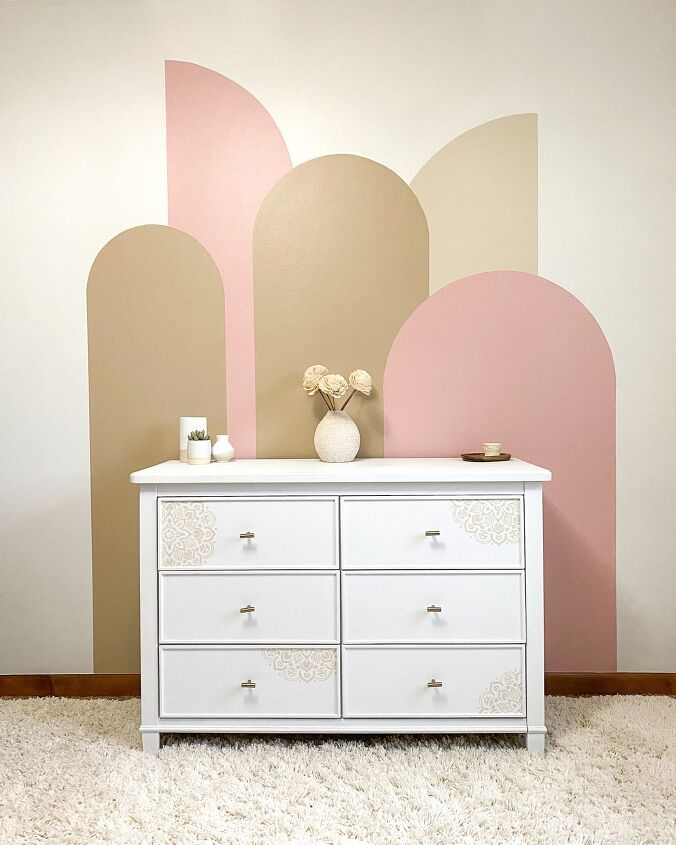 s 15 gorgeous diys for 30 and under that ll beautify your home, This modern arches colorblock wall