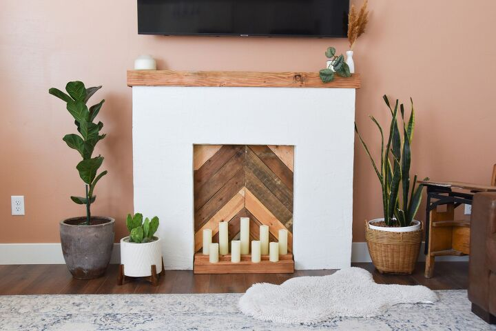 s 14 budget ways to fake your way to your designer dream home, Build a cozy faux fireplace