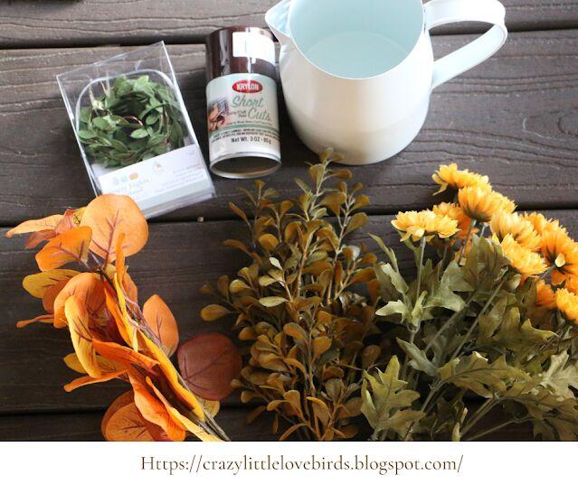 simple diy autumn floral arrangement