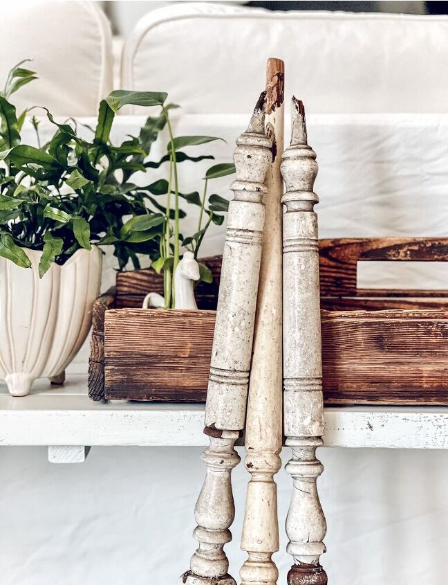 architectural salvaged candlestick holders