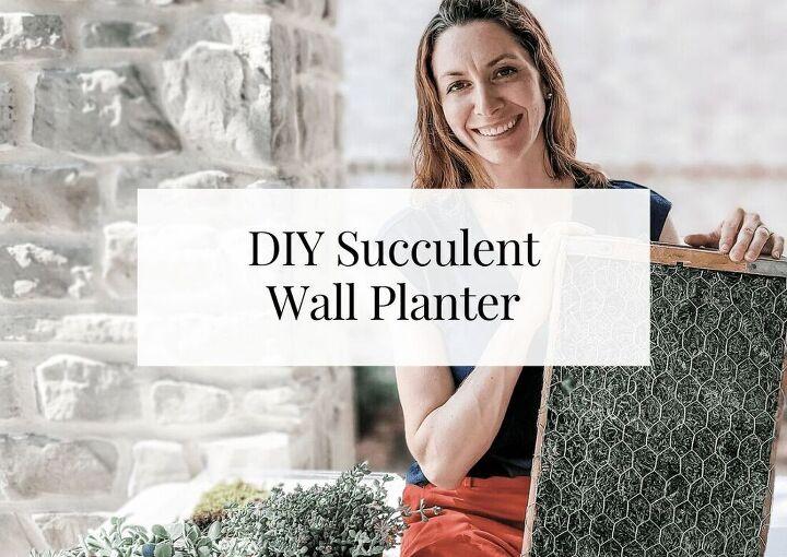 diy vintage succulent wall planter 804 sycamore