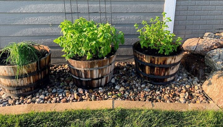 setting up an automatic watering system for outdoor plants hanging b
