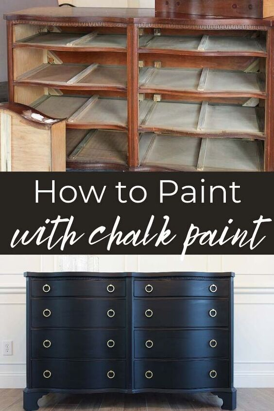 how to paint with chalk paint a chalk paint dresser makeover