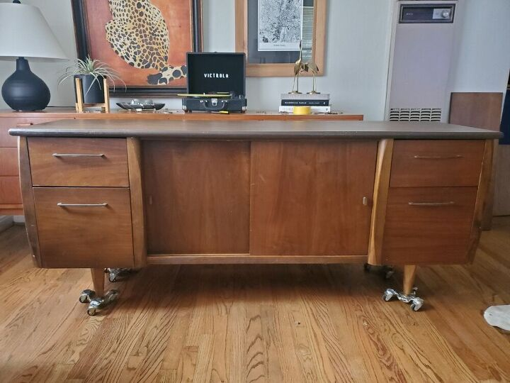 mid century moder credenza gets a face lift, Before