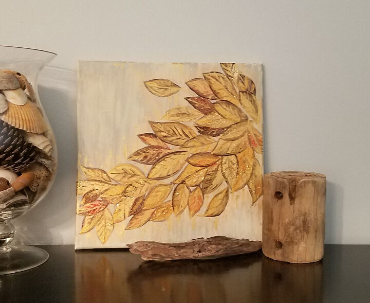 s 18 of the best fall decor ideas to start planning for your home, This tumbling leaves canvas art