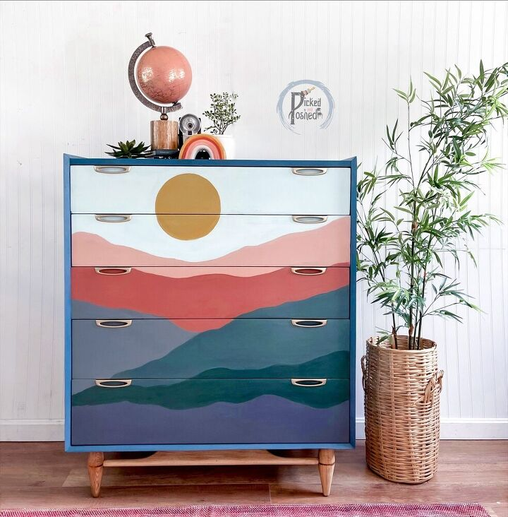 s 15 creative ways to fill your home with color, Paint a mural on your dresser