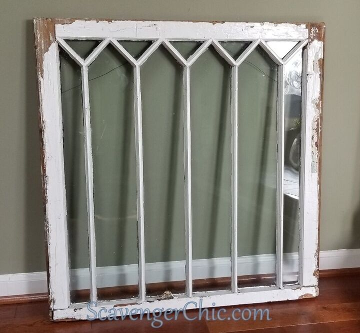 diy mercury glass window
