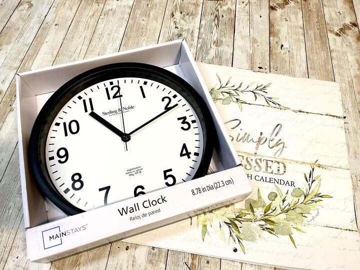 dollar tree calendar clock creating through chaos
