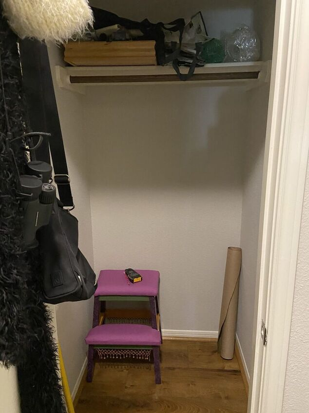 two for one transformation, Unused coat closet