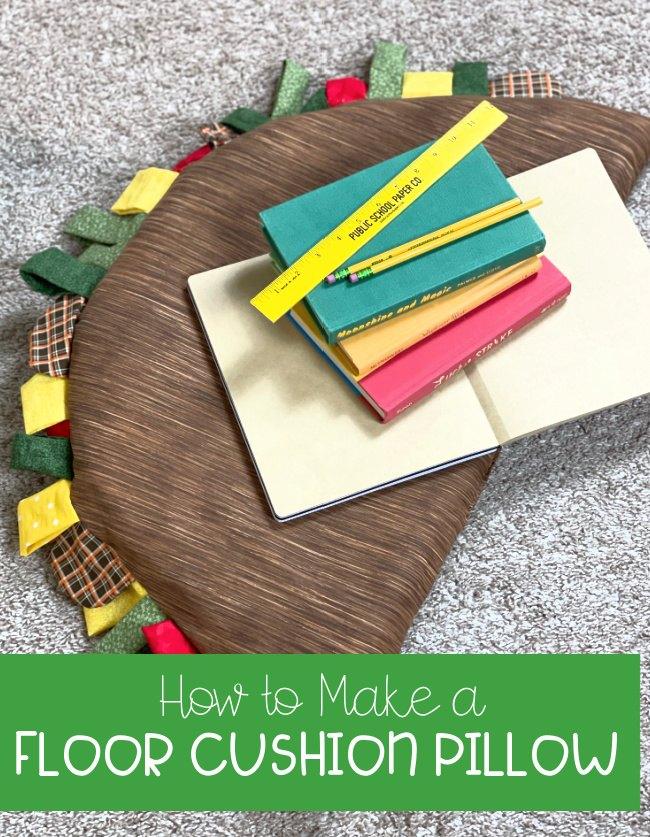 how to make a floor cushion pillow shaped like a taco