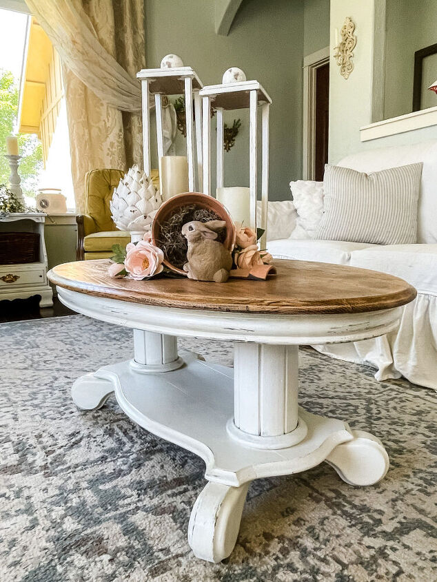 thrift store challenge coffee table makeover