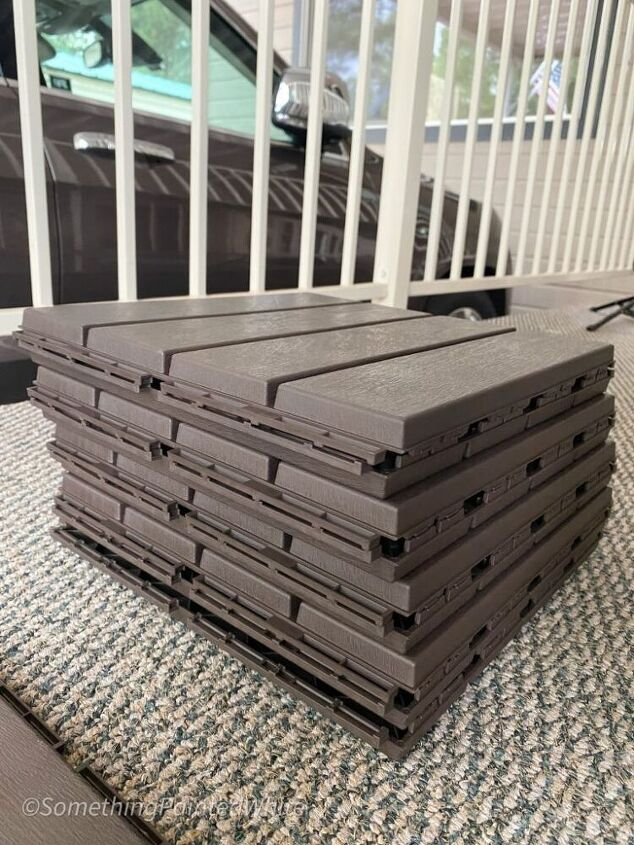 a great new look for an outdated old deck with 12 deck tiles from ast