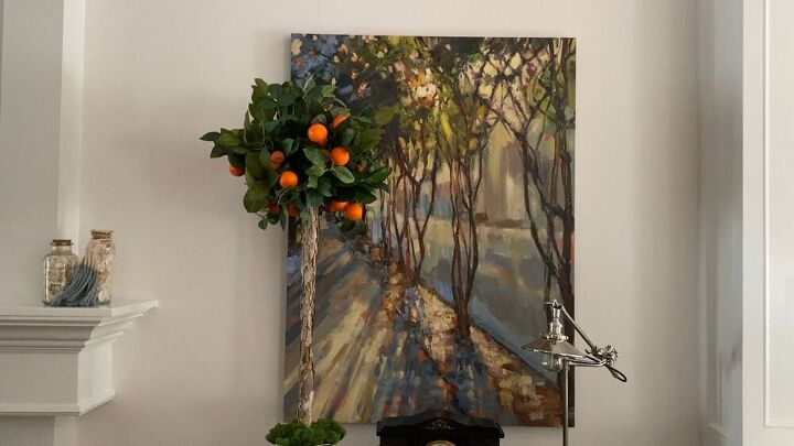 s 18 genius ways to brighten up your decor with fake plants, Faux Orange Topiary