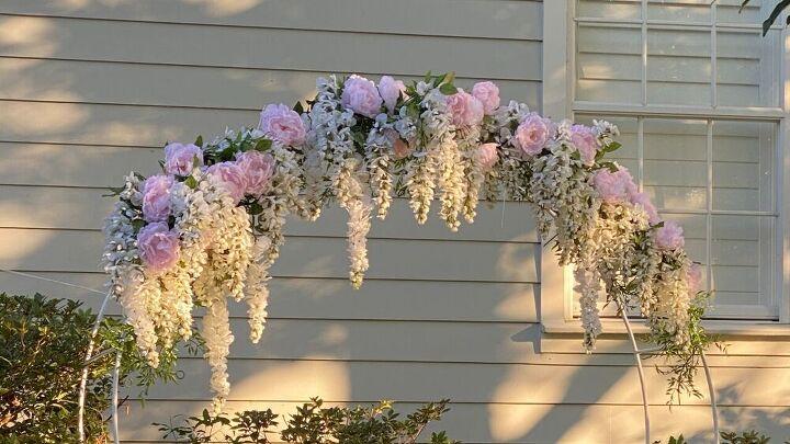s 10 beautiful wedding decor ideas on a budget, Backyard Wedding Arch