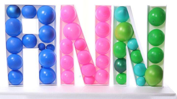 s 14 belles idées pour décorer pour n'importe quelle fête, Balloon Marquee Letters