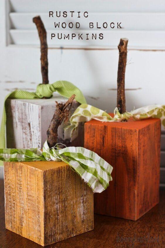 rustic wood pumpkins