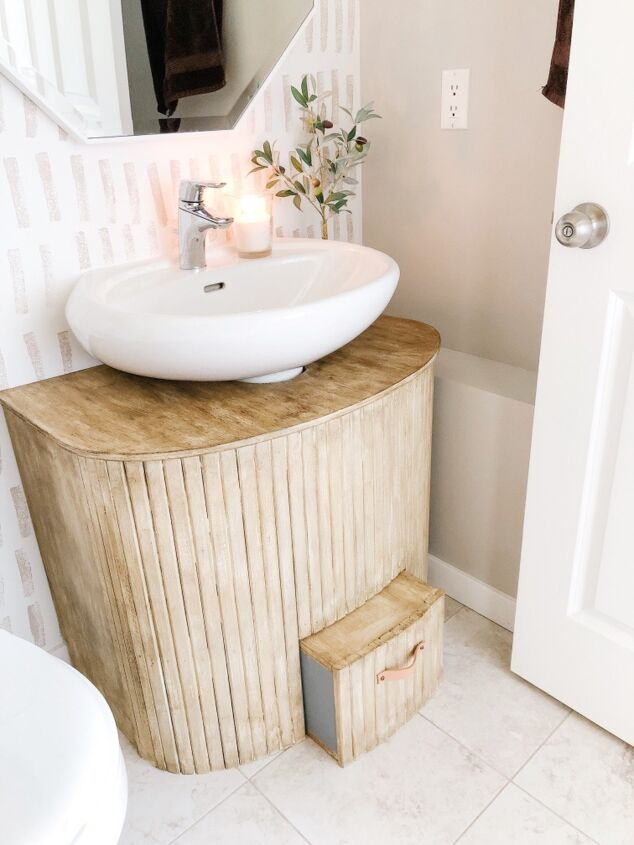 s 15 gorgeous ideas that ll make you want to rip out your whole bathroom, Upcycle a crib into bathroom vanity