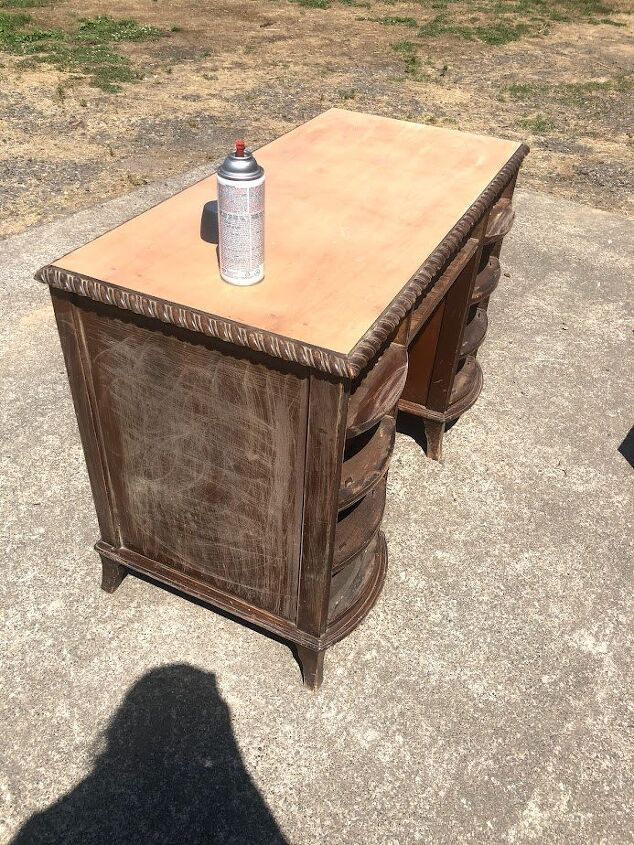 vintage desk refinish